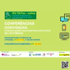O XIV CILTec Online agradece às quase 150 submissões de trabalhos recebidas